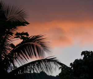 Sunset, north shore after the Kalalau hike